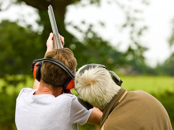 Clay Pigeon Shooting Castlethorpe, Bucks, Buckinghamshire